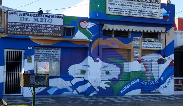 Mural en Biblioteca Popular